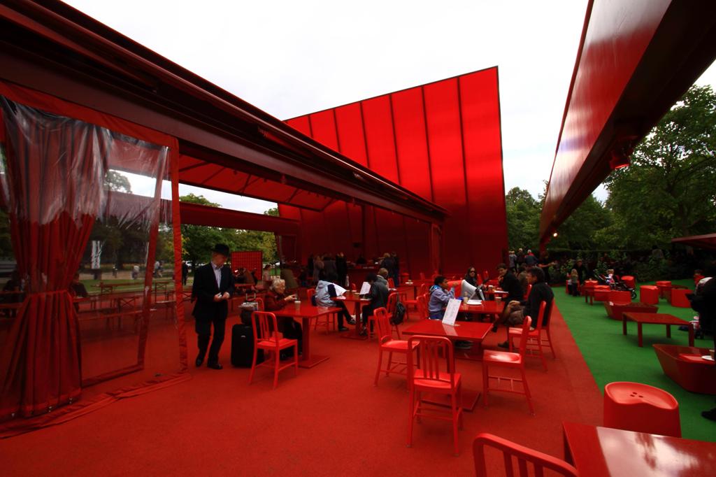 Red sun pavillion